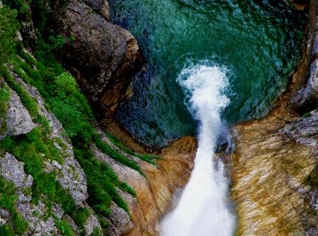 A waterfall near Neuschwanstein
