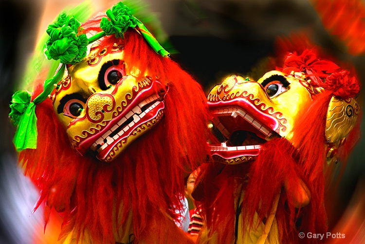 Lion Dance Duo - ID: 8753737 © Gary W. Potts