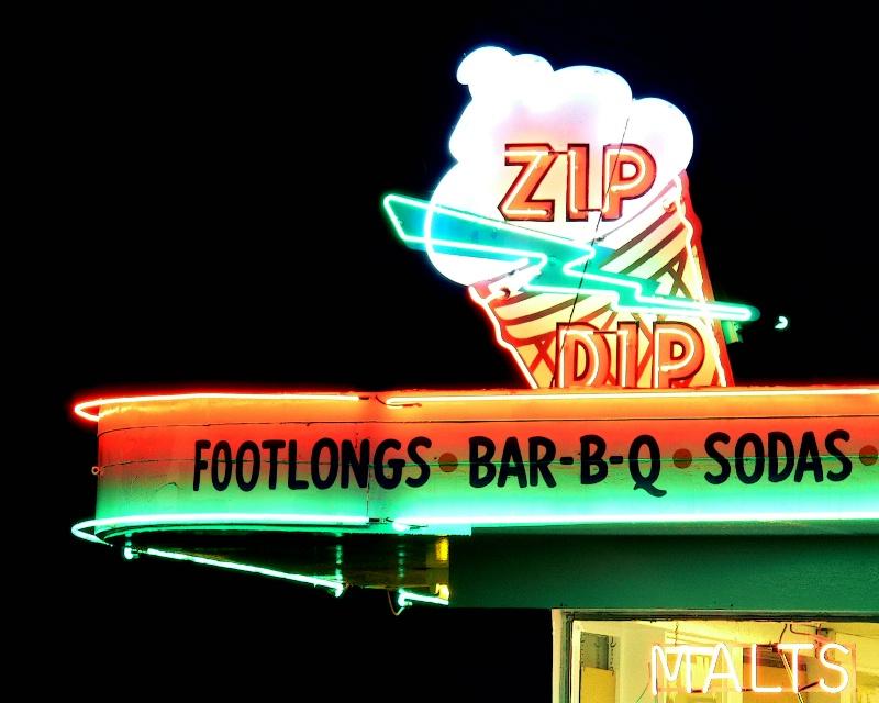 Zip Dip after dark