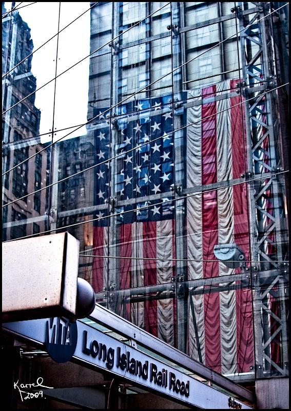 Flag Under Glass