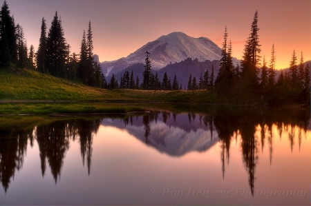 Mt. Rainier Sunset Reflection