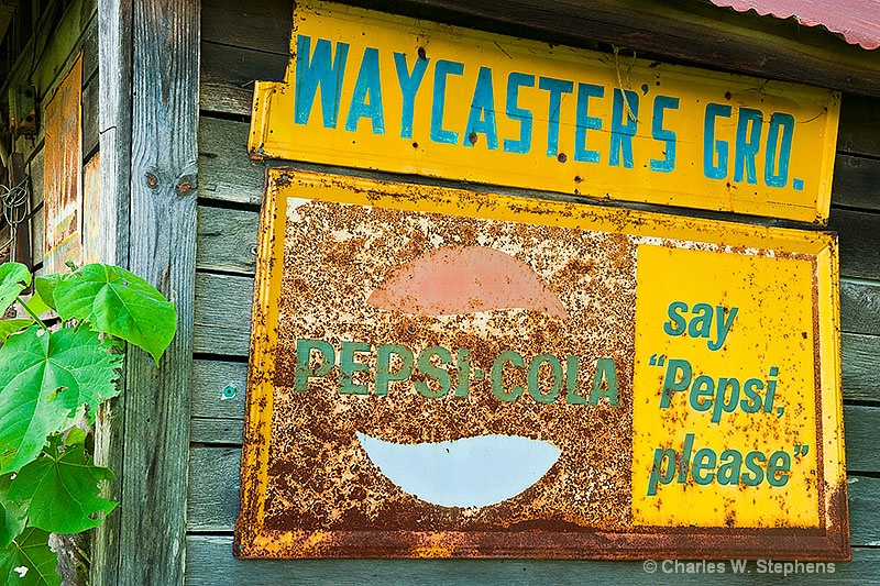 Relic Sign: Say Pepsi Please - ID: 8866666 © Charles W. Stephens