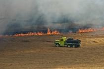 Water Truck, Field Burning Oregon