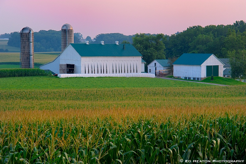 Amish Farm at Dusk