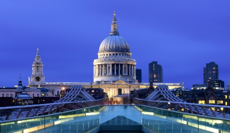Saint Paul's Cathedral from Millennium Bridge