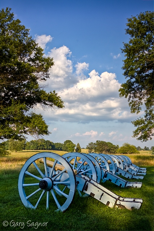 Row of Canons at Valley Forge National Park, Pa.