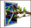 Framed Parakeets