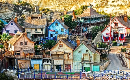 POPEYE'S VILLAGE IN SWEETHAVEN, MALTA