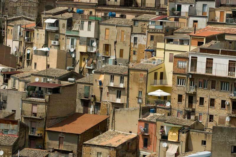 Calascibeta view to Piazza Armerina - Sicily