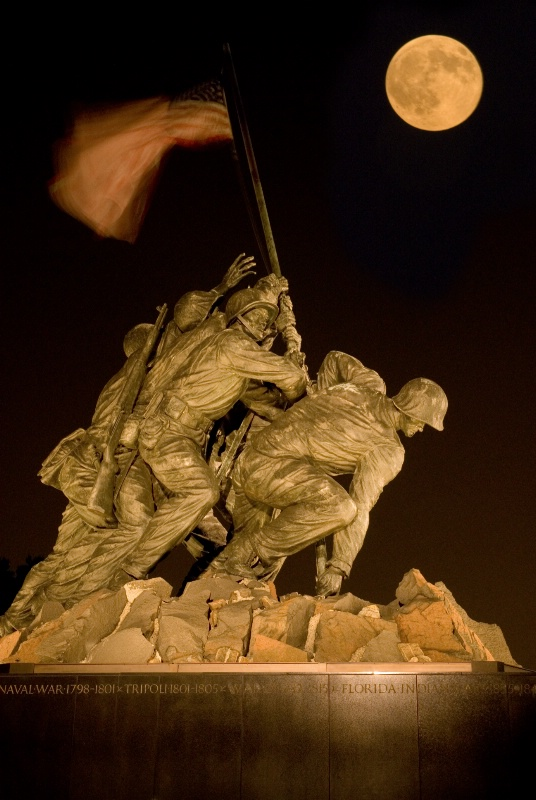 Marine Corps Memorial Moonrise