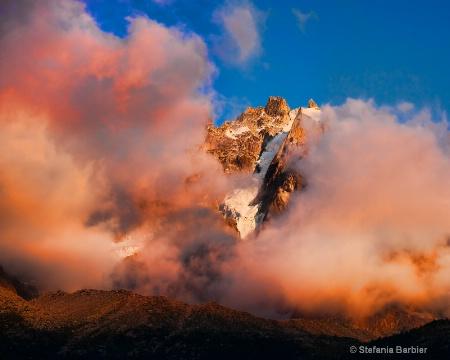 Mt. Blanc at sunset