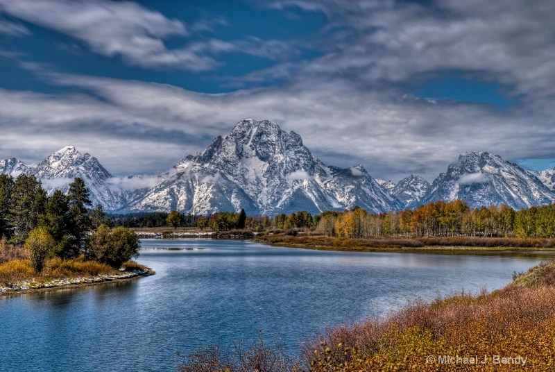 Oxbow Bend after the snow- HDR