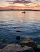 Canoeing at Sunse...