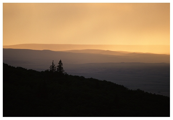 Cypress Hills Sunset Rain - ID: 9413522 © Jim D. Knelson