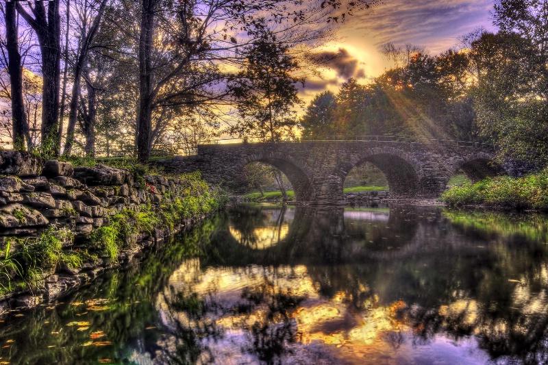 Bridge at Sunset - ID: 9414431 © Joseph T. Pilonero