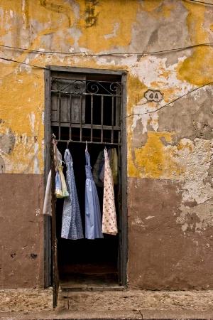 Dress shop or laundry?