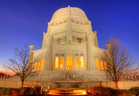 Bahai Temple in Winter