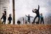 Amish Kids At Pla...