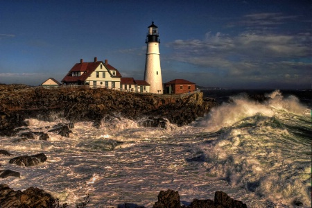 Portland Headlight after the Storm