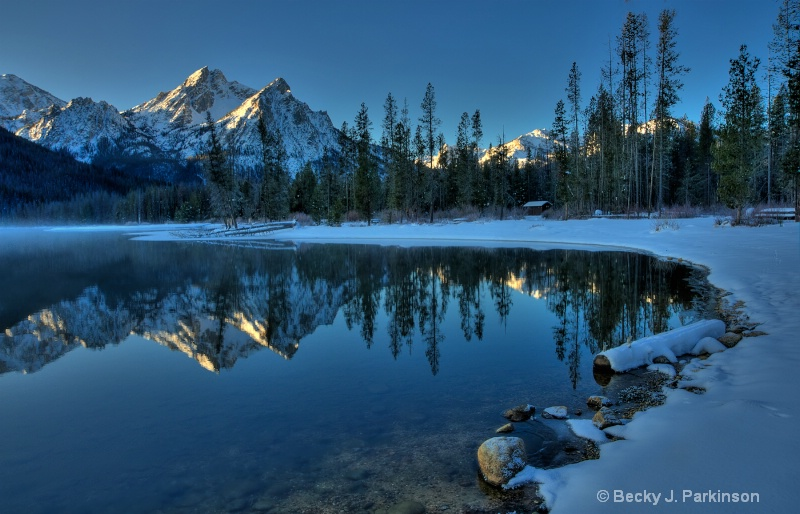 Stanley Lake and McGowan Peak
