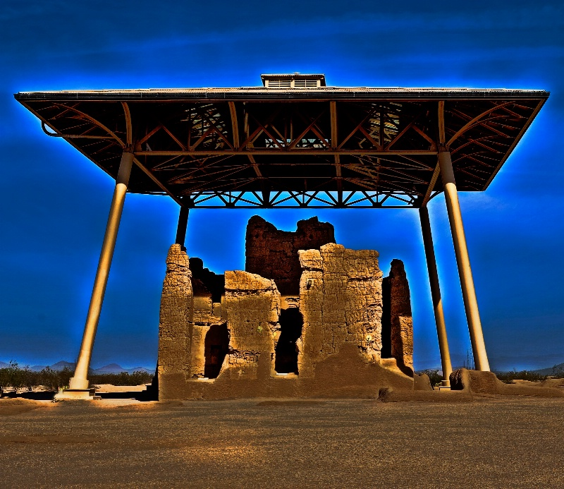 """""""The Great House - Casa Grande Ruins,  Coolidg"""