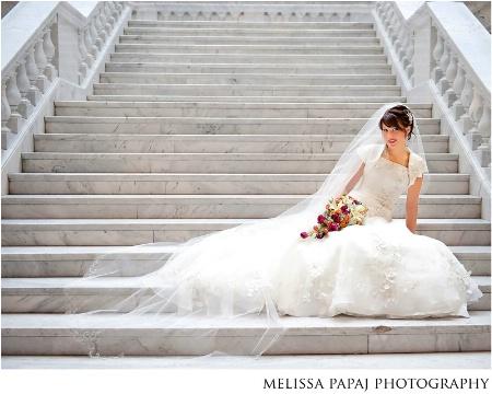 Bridal Portrait at the Utah State Capitol