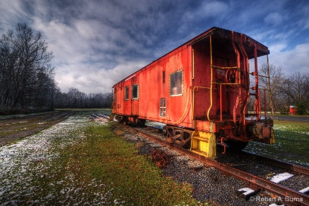 Caboose in Morning Light