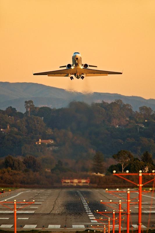 Sunset Departure Runway 25