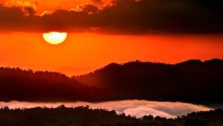Sunrise over Millaa Millaa