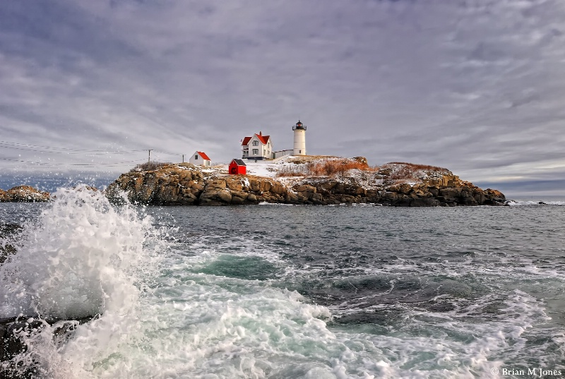 Crashing Waves at Nubble Lighthouse