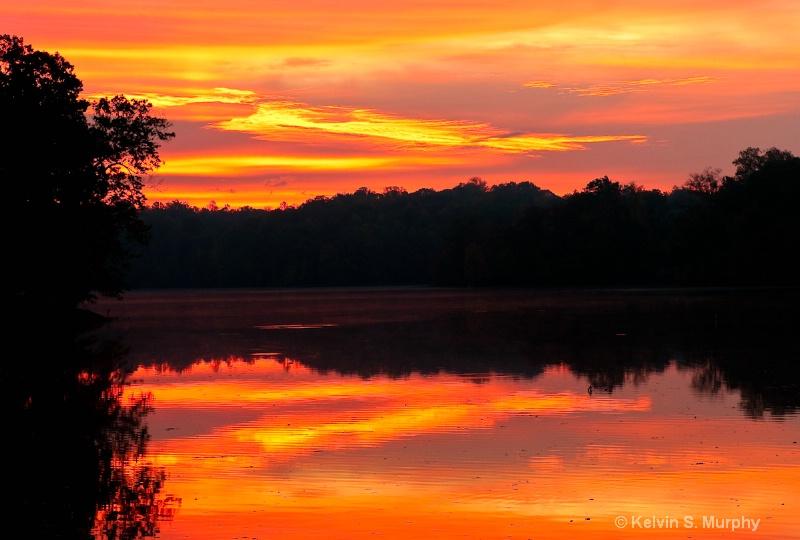 sunrise on the occoquan