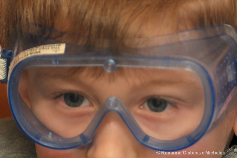 eyes behind the goggles