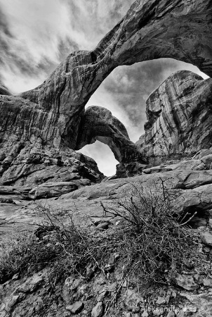 Heavens Through Double Arch