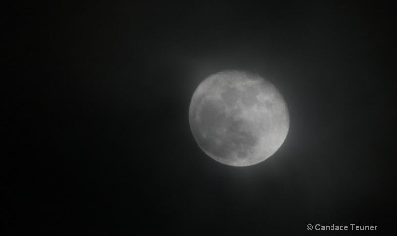 eerie partial moon
