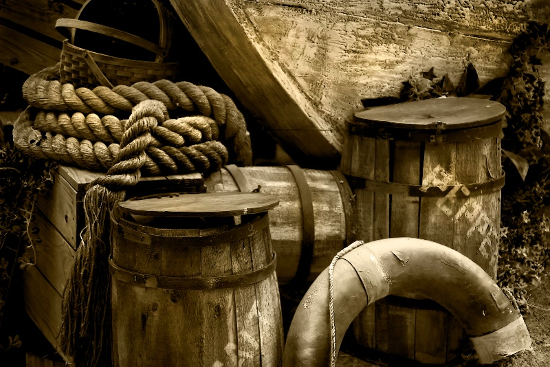 Wood, Barrels and Rope at Busch