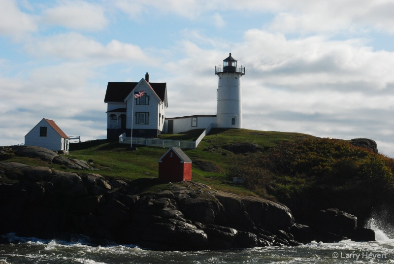 Maine- Nuble Lighthouse - ID: 9764723 © Larry Heyert