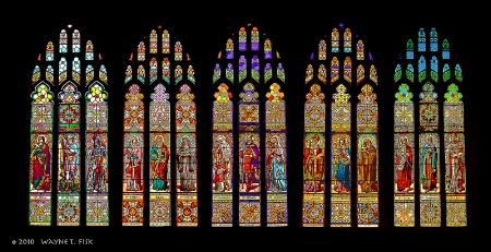 Five Windows at St. Anne's in Detroit