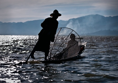Inle Lake, leg rower, Myanmar (Burma)
