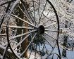Snow on old wheel...