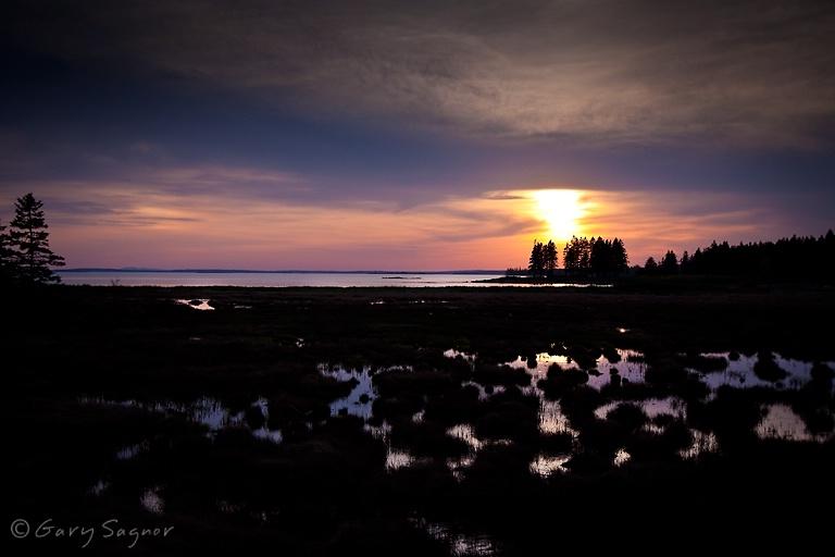 Acadia Sunset at Pretty Marsh