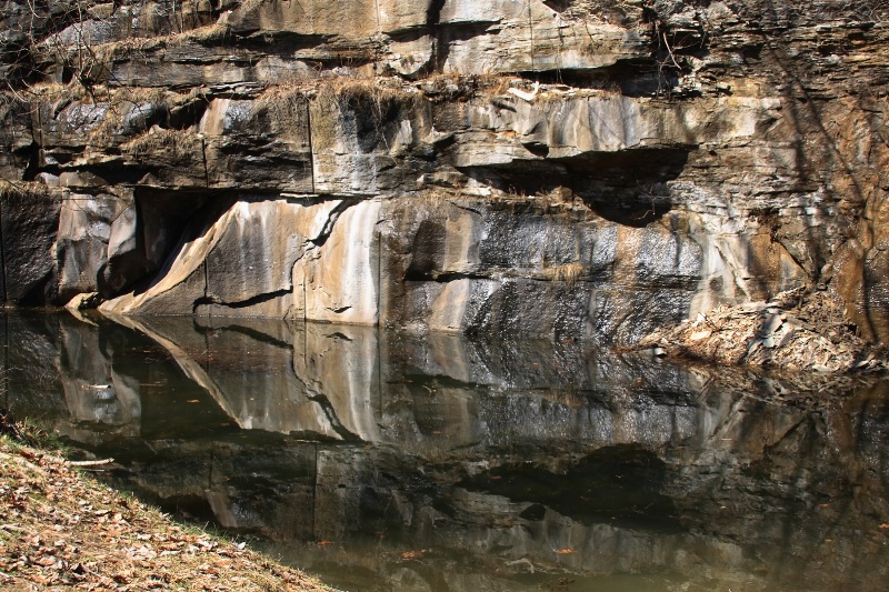Reflection In A Rock Quarry 2