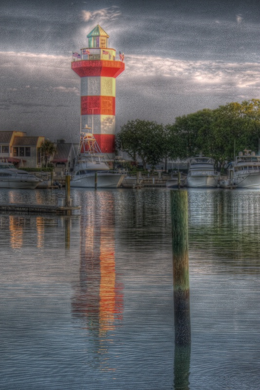 Harbour Town Lighthouse in Morning Light - ID: 9908152 © Robert A. Burns