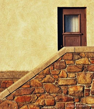 stucco-and-door