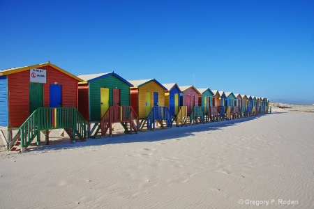 Beach Huts, Muizenberg Beach, Cape Town
