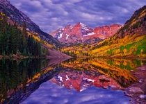 Morning at Maroon Bells