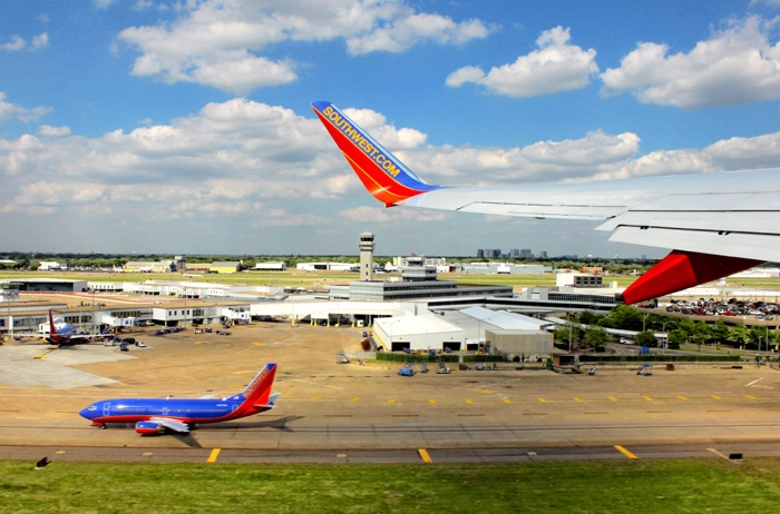 Landing and Take-Off at Dallas Love Field.