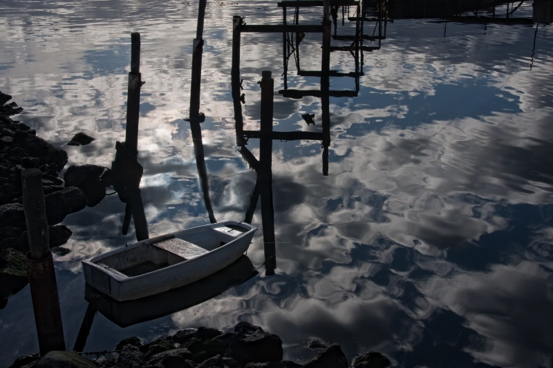 Lonely Sunset Reflection - ID: 10053051 © Karen Celella
