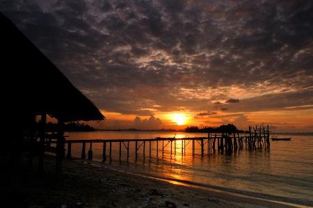 Sunrise at South Malaysia