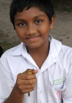 Indian Student with Bird