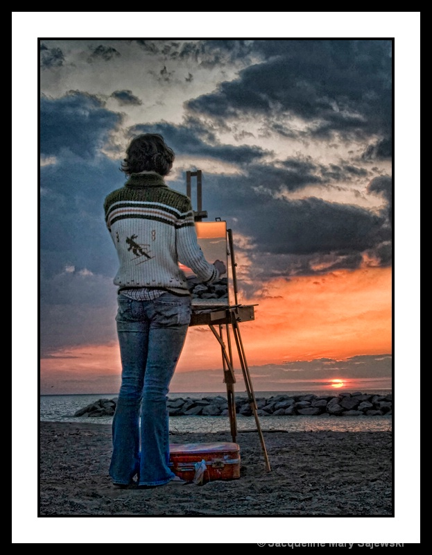 Painting A Sunset